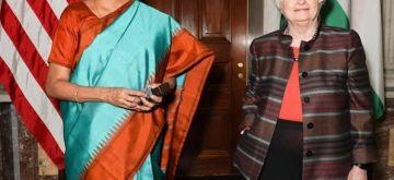 India's Finance Minister Nirmala Sitharaman met with United States Treasury Secretary Janet Yellen in Washington on Thursday, October 14, 2021.(Photo: https://twitter.com/FinMinIndia)