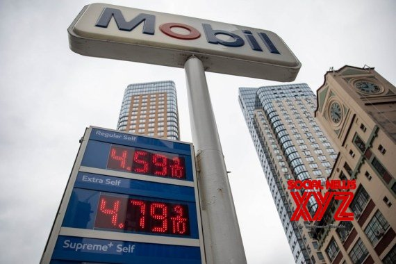 Gas prices are displayed at a gas station in New York, the United States, on Oct. 13, 2021 #Gallery