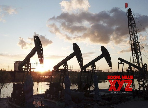 Aerial photo shows the sunset view of Daqing Oilfield in Daqing, northeast China's Heilongjiang Province, May 24, 2021 #Gallery