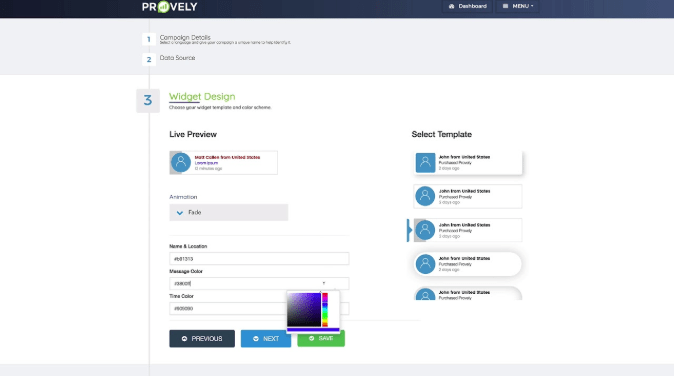 Provely Dashboard