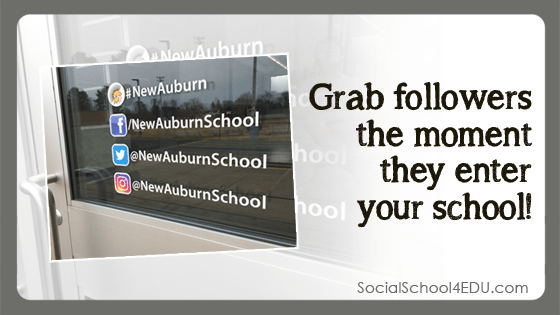 Grab Followers the Moment They Enter Your School!