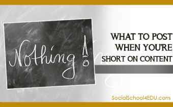 What to Post When You're Short on Content