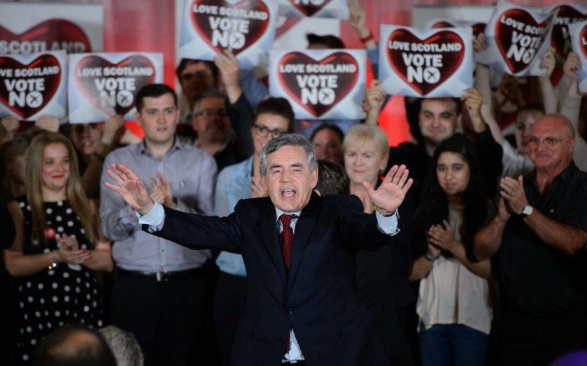 Gordon Brown Giving Impassioned Speech