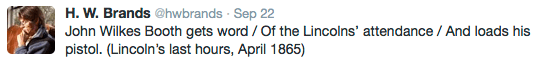 Twitter haiku: 17 syllables and 140 characters through US history