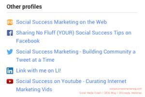 Social Media Profile Optimized for Search