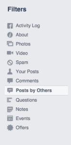 Facebook Posts by Others