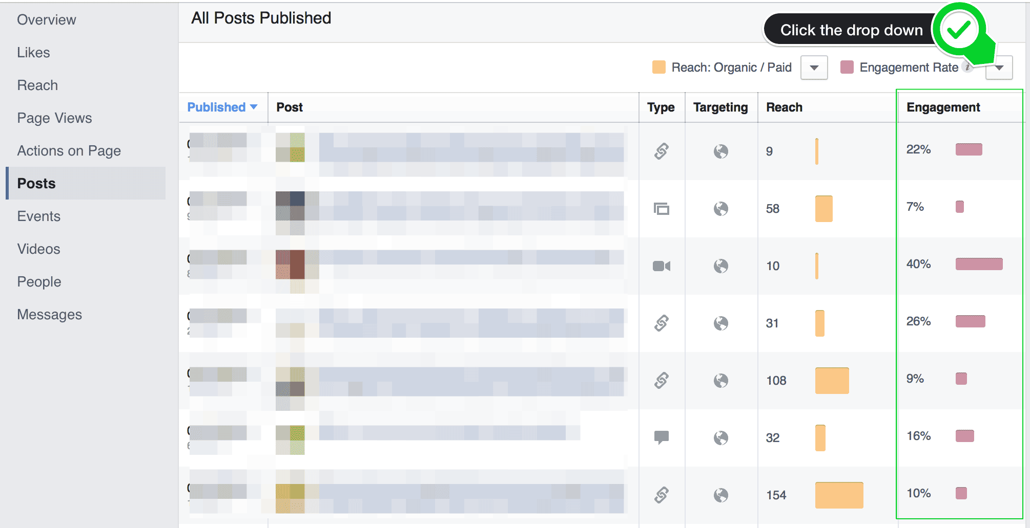 Facebook Page Insights Engagement Rate
