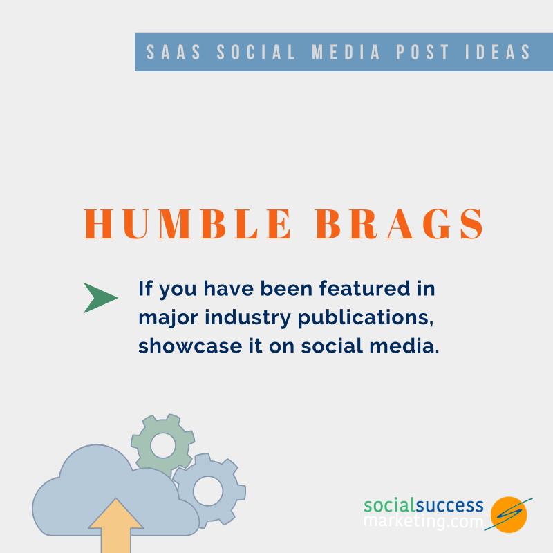 humble brag SaaS social media posts