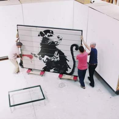 Banksy mostra intervista