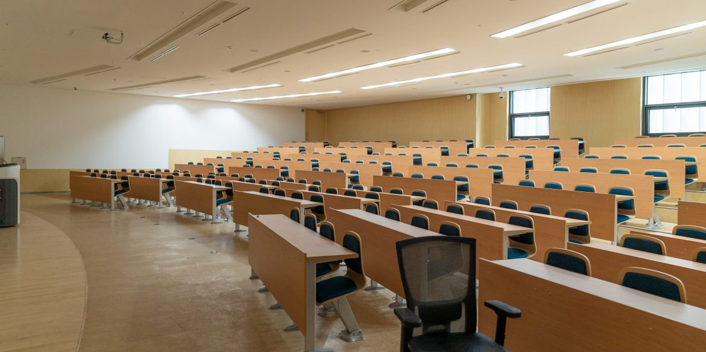 Aula vuota dopo digitalizzazione delle università