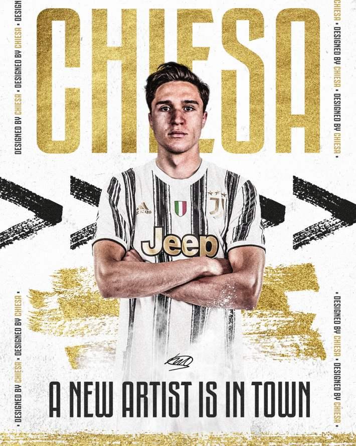 Presentazione di F. Chiesa alla Juventus
