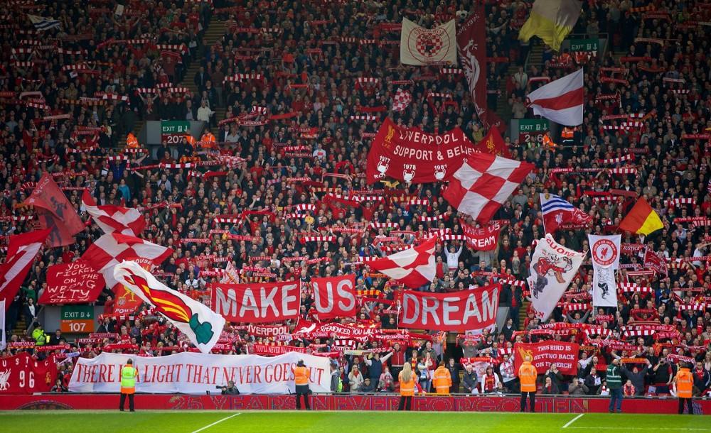 La curva del Liverpool