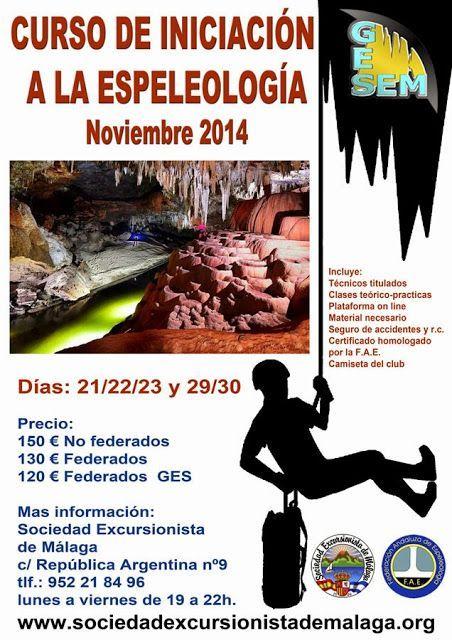 Curso de Iniciación a la Espeleología, Noviembre 2014