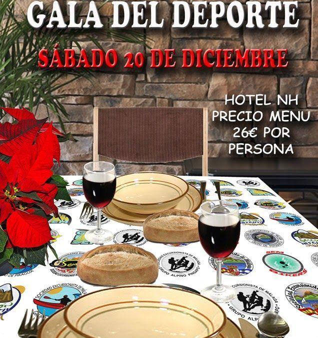 Cena de Navidad – Gala del Deporte, sábado 20 de diciembre