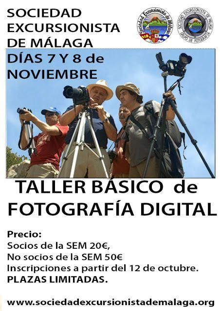 TALLER BÁSICO de FOTOGRAFÍA DIGITAL 7 y 8 de Noviembre