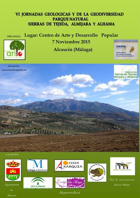VI-Jornadas Geológicas-PNS de Tejeda, Almijara y Alhama-Alcaucín2015