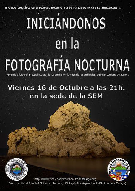 Charla sobre fotografía nocturna, viernes 16 de octubre.