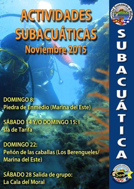 Actividades subacuática noviembre 2015
