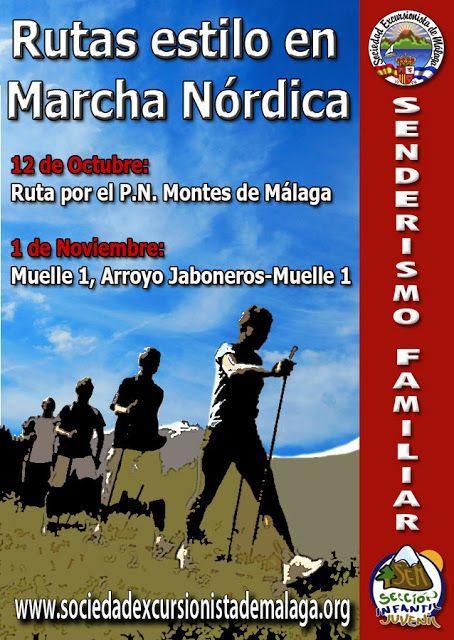 Rutas estilo marcha nórdica, 12 de Octubre y 1 de Noviembre