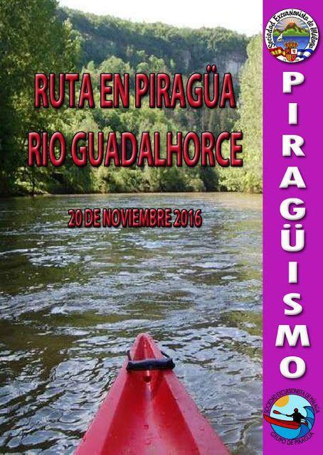 Ruta en Piragúa por el rio guadalhorce, 20 de noviembre 2016