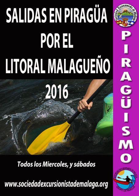 Salidas en Piragüa por el litoral malagueño