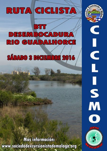BTT Desembocadura Río Guadalhorce sabado 3 diciembre