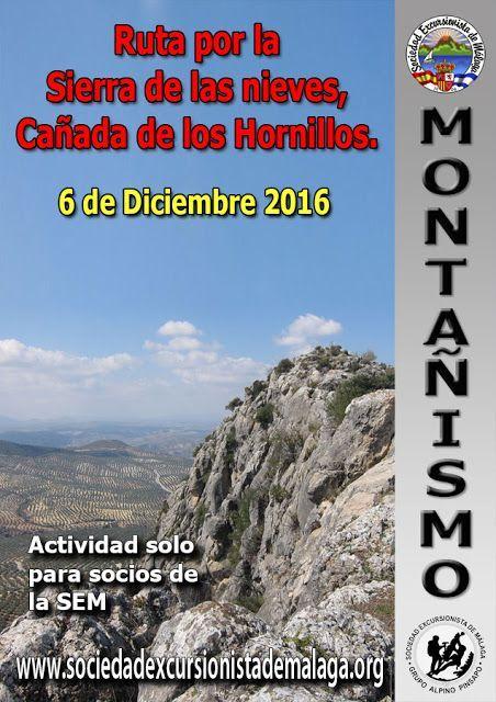 Ruta por la Sierra de las nieves, Cañada de los Hornillos. 6 de Diciembre 2016
