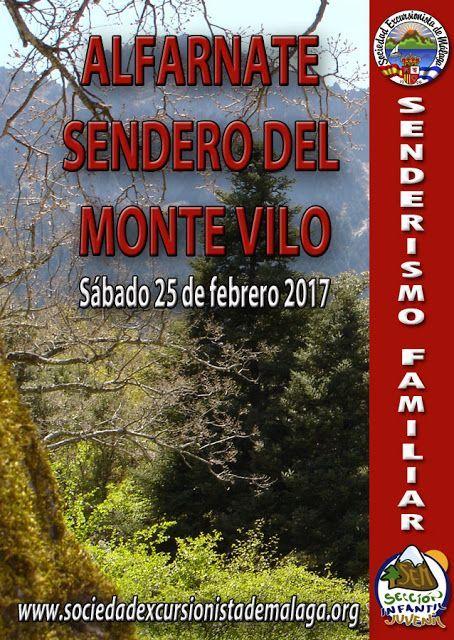 Alfarnate sendero del pico Vilo. Sábado 25  Febrero