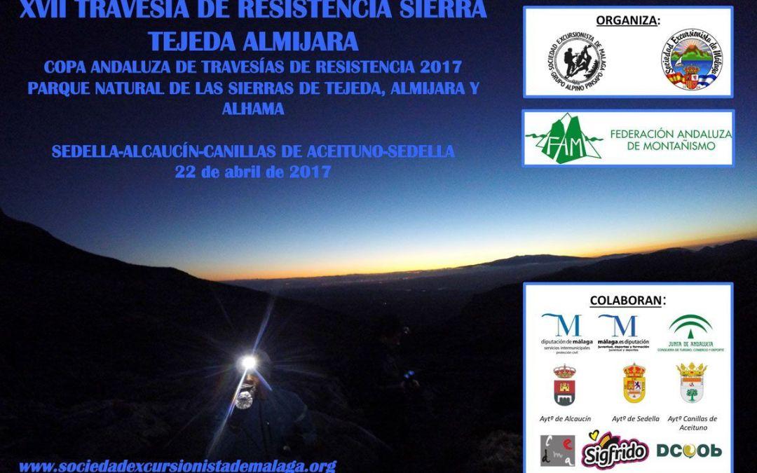XXVII Travesía de resistencia sierras de Tejeda y Almijara, 22 abril 2017