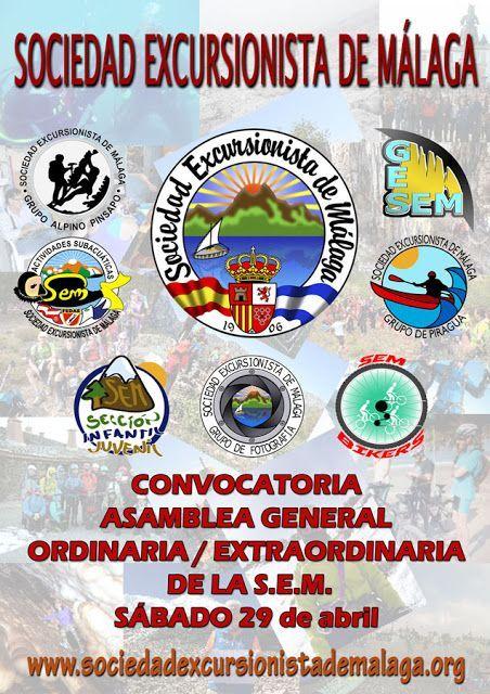 Convocatoria Asamblea  General  Ordinaria / Extraordinaria SEM, 29 de abril