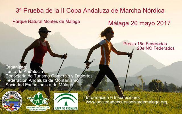 II Copa Andaluza de Marcha Nórdica, Parque Montes de Málaga 20 de mayo