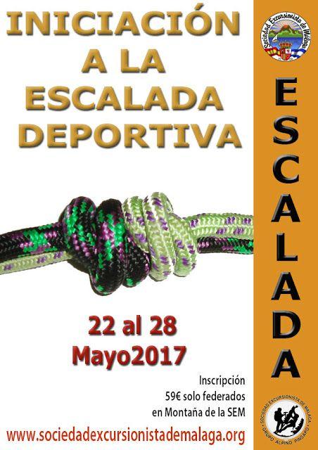 Curso de inciación a la escalada deportica del 22 al 28 de mayo