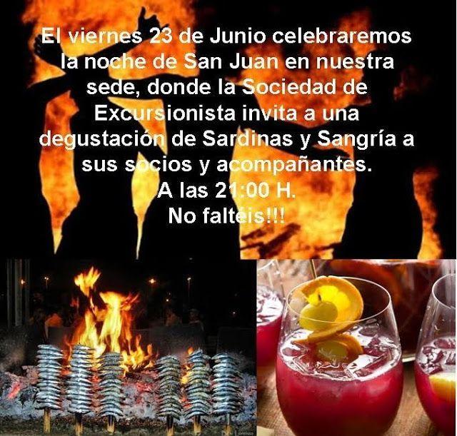 Noche de San Juan viernes 23 de junio