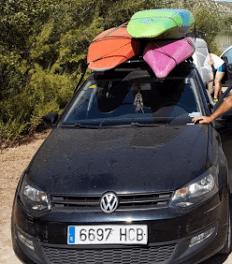 Salida de la Sección de Piragua – Río Genil