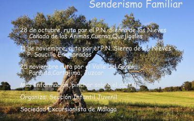 Actividades de Senderismo Familiar. Octubre y Noviembre.