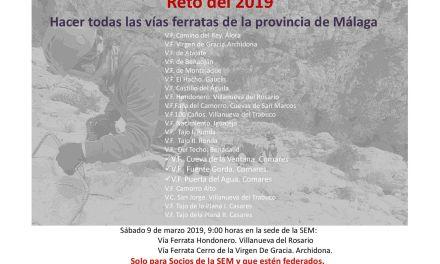 [RETO Ferratas] 9 Marzo:  Vva del Rosario y Archidona