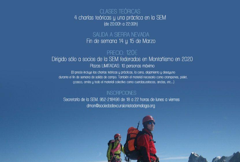 Iniciación al Alpinismo. Marzo 2020
