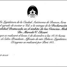Declaración de personalidad destacada: Dr. Marcelo Elizari