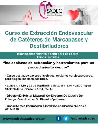 curso extraccion cateteres