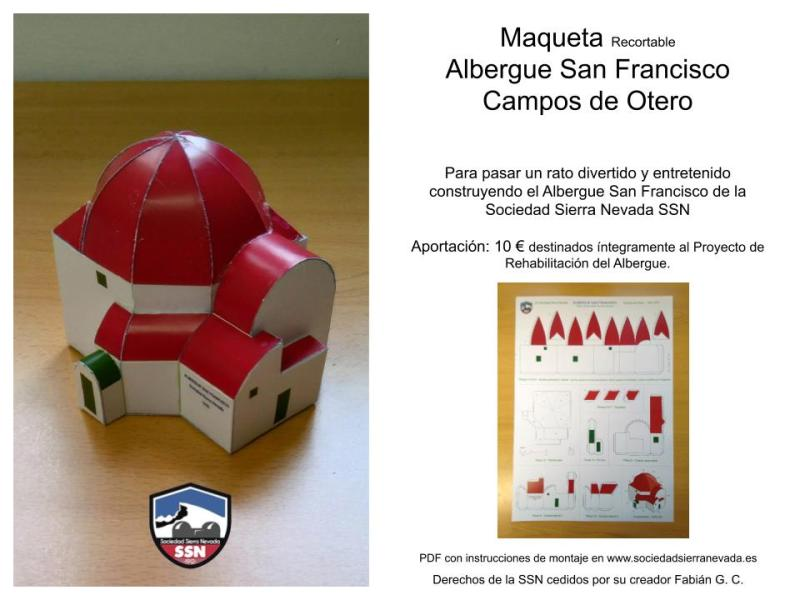 Maqueta Recortable Albergue San Francisco
