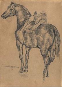 C0210r Cheval turc à l'écurie, d'après Géricault 67-71