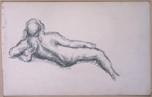 C0262 Femme allongée vue de dos 71-74