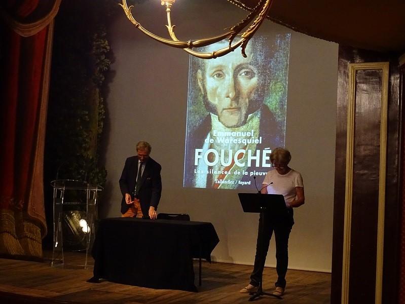 Fouché, les silences de la pieuvre, conférence d'Emmanuel de Varesquiel au théâtre Blossac, le 30 septembre 2016.
