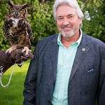 """Kalala"" aka ""Meep"" the Great Horned Owl and Wally Zeins"