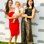 Violet Gaynor with Plum, Hilaria Baldwin with Carmen