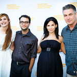 Josh Fox, Hilaria Baldwin, Alec Baldwin, and guest