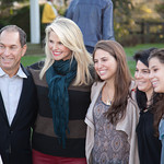 Stuart Suna, Christie Brinkley with Vicki Match-Suna and their daughters