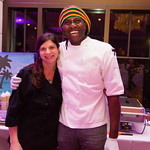 Chef Caitlin Palmer, Chef Osburn Palmer - Hamptons Raquet Club: Salt & Pepper Jamaican Catering
