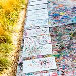 Pollock-style Drip Painting