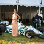 Chiara posing with Saudia Leyland Williams FW07